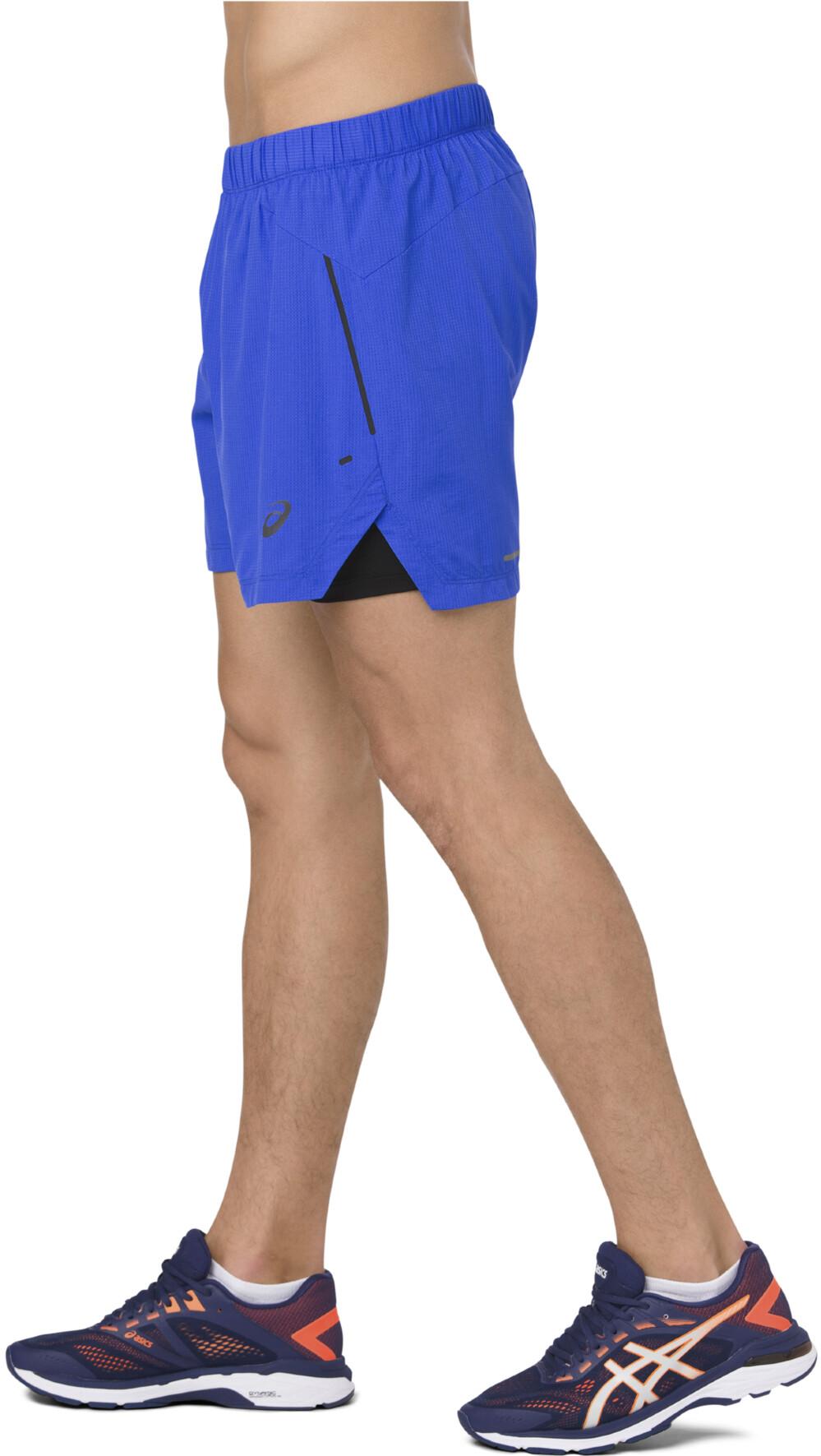 0384d1e57 asics Cool 2-N-1 Pantalones cortos running Hombre